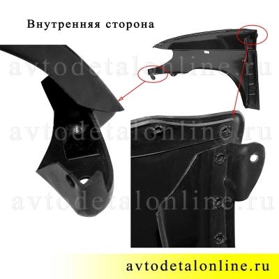 Крыло правое УАЗ Патриот, переднее, пластиковое на замену 3163-8403012, фото