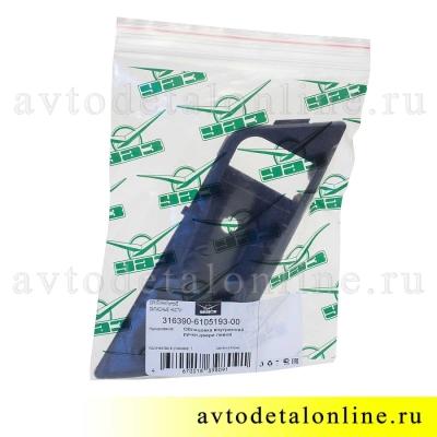 Накладка под внутренние ручки двери УАЗ Патриот с 2015, левая пластиковая облицовка обшивки, 3163-90-6105193
