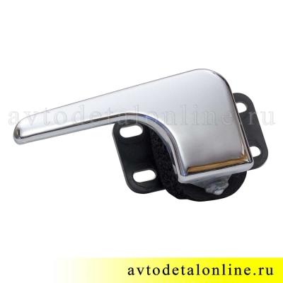 Хромированная левая ручка двери внутренняя УАЗ Патриот 3163-6105181 в сборе, замена 3162-6105181, фото
