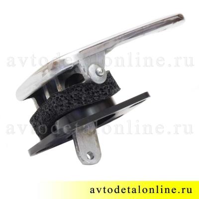 Хромированная левая внутренняя дверная ручка УАЗ Патриот 3163-6105181 в сборе, 3162-6105181, фото