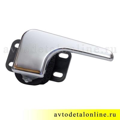 Хромированная правая ручка двери внутренняя УАЗ Патриот 3163-6105180 в сборе, замена 3162-6105180, фото