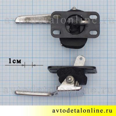 Хромированная правая внутренняя дверная ручка УАЗ Патриот 3163-6105180 в сборе, 3162-6105180, фото