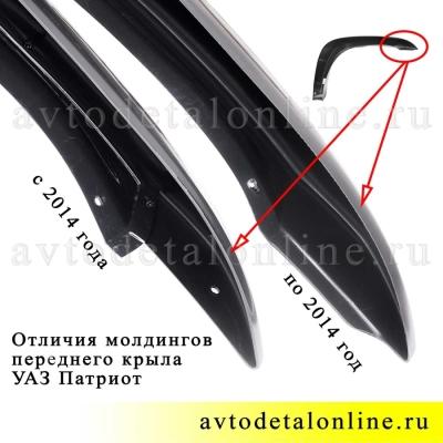 Левый молдинг переднего крыла УАЗ Патриот по 2014г, 3163-8212051