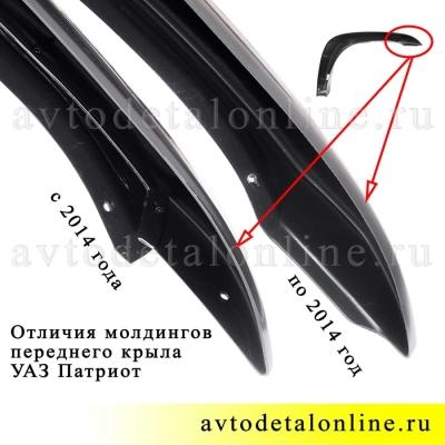 Левый молдинг переднего крыла УАЗ Патриот с 2014г, 31638-8212041