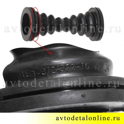 Гофра резиновая - трубка защитная проводов передней двери  УАЗ Патриот 3160-3724322-10