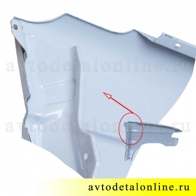 Переднее крыло УАЗ Патриот с 2015 г, левое, металл+грунт. на замену 3163-80-8403011, фото