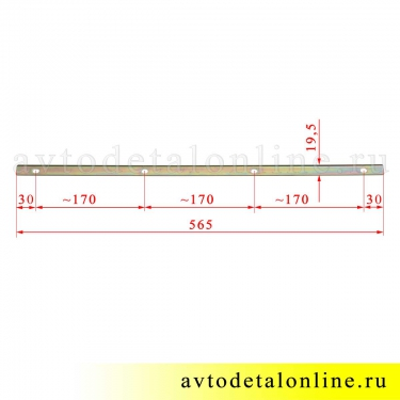 Размер планки накладки порога Патриот УАЗ 3162-8405050 защита на трубу-подножку