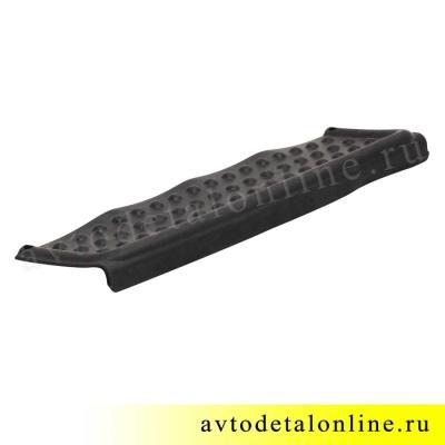 Резиновая накладка подножки заднего бампера Патриот УАЗ до 2015 г, номер 3160-2804048, вид снизу