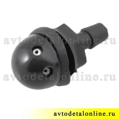 Форсунка омывателя стекла УАЗ Патриот и др. жиклер резьбовой 2-х струйный  3151-5208020 номер 3160-5208020