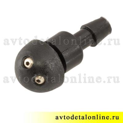 Форсунка омывателя стекла УАЗ Патриот и др. жиклер под фиксатор 2-х струйный  3151-5208020 номер 3160-5208020