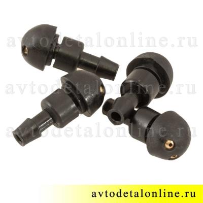 Форсунка омывателя лобового стекла УАЗ Патриот и др., жиклер не резьбовой 2-х струйный  3151-5208020