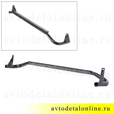 Подножка Патриот, защитная труба порогов УАЗ правая 3162-8405012 фото бокового ограждения без резинки
