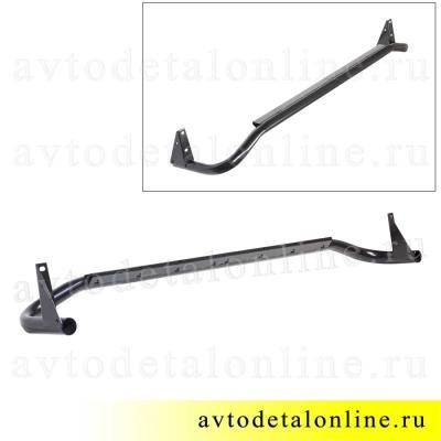Подножка Патриот, защитная труба порогов УАЗ левая 3162-8405013 фото бокового ограждения без резинки