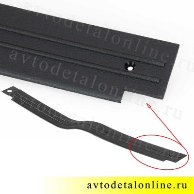 Пластиковые накладки на пороги УАЗ Патриот передняя левая, номер облицовки порога пола 3160-5109073