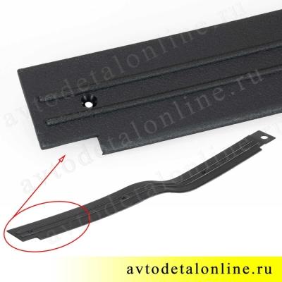 Накладка порога УАЗ Патриот передняя правая, номер пластиковой облицовки порога пола 3160-5109072