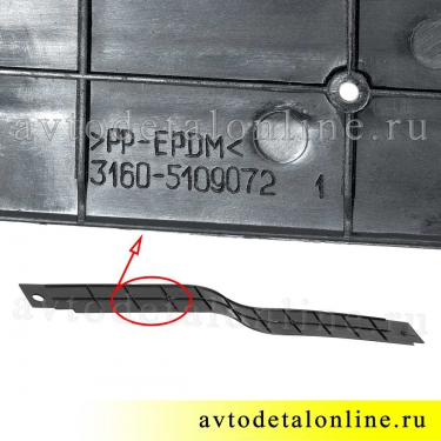Пластиковые накладки на пороги УАЗ Патриот передняя правая, номер облицовки порога пола 3160-5109072