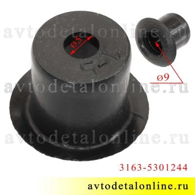 Вкладыш втулки-пистона крепления карманов дверей УАЗ Патриот и подлокотников 3163-5301244