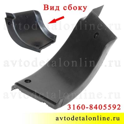 Накладка подножки УАЗ Патриот резиновая 3160-8405592 на задний, правый порог