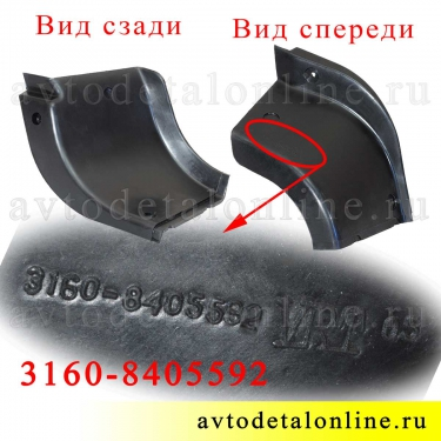 Резиновая задняя правая накладка на пороги Патриот УАЗ 3160-8405592 для защиты подножки