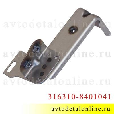 Кронштейн УАЗ Патриот крепления надставки облицовки радиатора (реснички) левый 31631-8401041