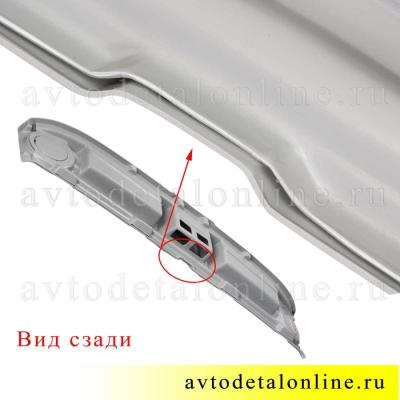 Акустическая верхняя полка под магнитолу на УАЗ 469, Хантер, серый АБС пластик, Пром-Деталь