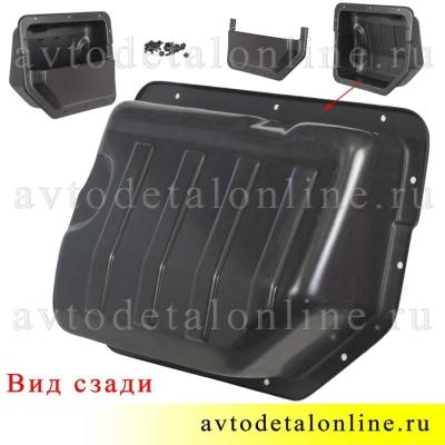 Багажные карманы УАЗ Патриот, пластик, комплект 2 шт, для установки в боковую обшивку, фото вида сзади