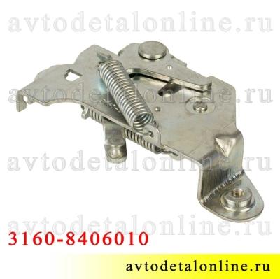 Замок капота УАЗ Патриот 3160-8406010 застежка открывается тросом