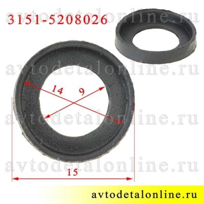 Размер прокладки форсунки омывателя УАЗ Патриот и др. 3151-5208026 для жиклеров 3151-5208020 и 3160-5208020