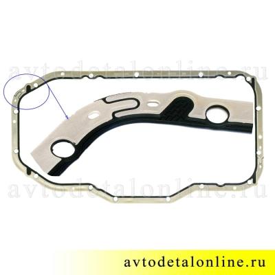 Запчасть Elring - прокладка поддона УАЗ Патриот Евро-3 с ЗМЗ 405, 406, 409, замена 40624.1009070