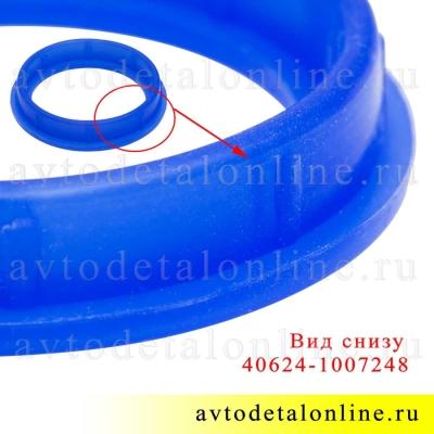 Уплотнитель свечного колодца ЗМЗ-406, 409, 405 УАЗ, ГАЗ, Промтехпласт синий силикон на замену 406-1007248