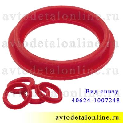 Уплотнитель свечного колодца ЗМЗ-409, 405, 406 УАЗ, ГАЗ, Ростеко красный силикон на замену 40624.1007248