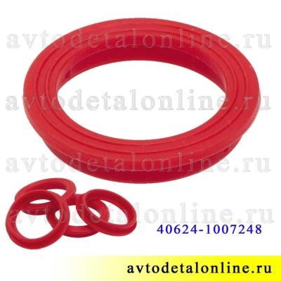 Уплотнитель свечного колодца УАЗ, ГАЗ с ЗМЗ-406, 409, 405, красный силикон Ростеко на замену 40624-1007248