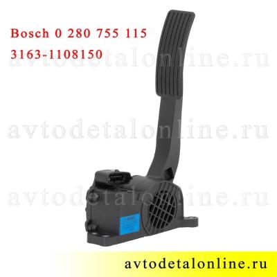 Электронная педаль газа УАЗ Патриот, Хантер 3163-1108150, модуль акселератора BOSCH 0 280 755 115 (506)