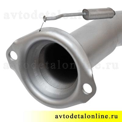 Глушитель УАЗ Патриот 3163 до 2008 г, инжекторный двигатель Евро 2, фото, цена, купить на замену 31622-1201010
