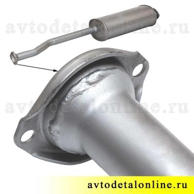 Труба глушитель УАЗ 3163 Патриот до 2008 г, Евро 2, размер, диаметр, цена, купить на замену 31622-1201010
