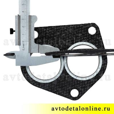 Прокладка выпускного коллектора и приемной трубы, УАЗ 3160 Патриот, 3160-1203020, двигатель 421, Евро 3, фото