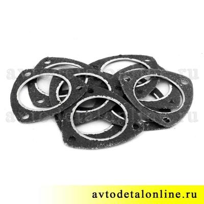 Прокладка между соединением глушителя и резонатора 31602-1203088-10 треугольная, УАЗ Патриот 3163, Хантер