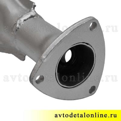 Выхлопная труба УАЗ Патриот, Хантер, приемная для глушителя с датчиком, 31602-1203010-10, фланец, прокладка