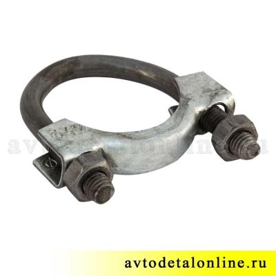 Хомут крепления трубы глушителя 42 мм, размер, 20-1203085, обжимной, 20-1203080, УАЗ, ГАЗ