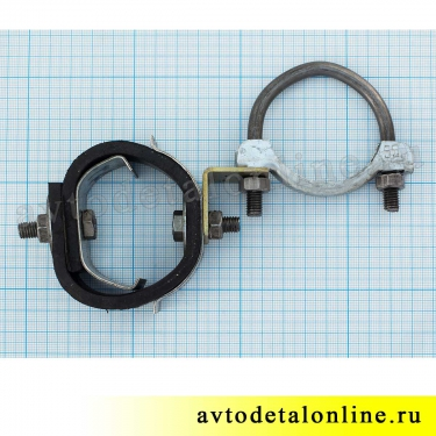 Хомут глушителя 55 мм подвеска с резинкой УАЗ-469, Хантер, Буханка,  469-1203073 и 51-1203033 и 69Ю-1203031