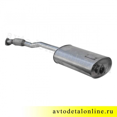 Глушитель УАЗ Патриот, Евро-3,4, нержавейка, с гофрой под электрическую РК, 3163-1201010-11, размеры на фото