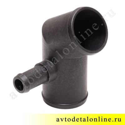Угловой нижний патрубок радиатора УАЗ Патриот с 2014 г, со штуцером для шланга отопителя 3163-1303030-20
