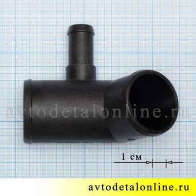 Размер патрубка радиатора УАЗ Патриот с 2014 г, со штуцером для шланга отопителя 3163-1303030-20