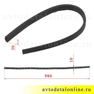 Размеры резинового уплотнителя электрического вентилятора Патриот УАЗ 3160-20-1308072