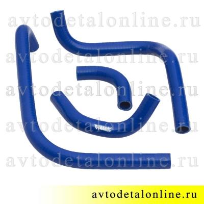 Комплект силиконовых шлангов печки УАЗ Патриот до 2012 года, ремкомплект патрубков отопителя