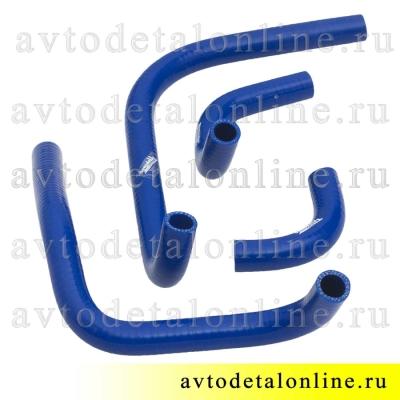 Комплект силиконовых патрубков отопителя УАЗ Патриот до 2012 года, ремкомплект шлангов печки