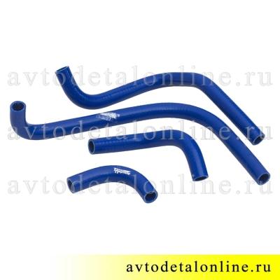 Комплект силиконовых патрубков печки УАЗ Патриот до 2012 г, ремкомплект шлангов отопителя