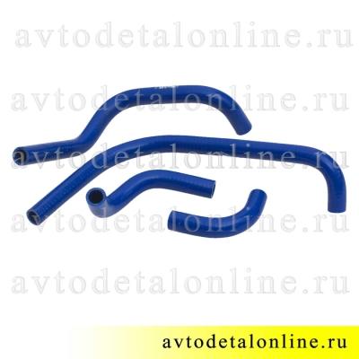Ремкомплект силиконовых шлангов печки УАЗ Патриот до 2012 года, комплект на замену патрубков отопителя