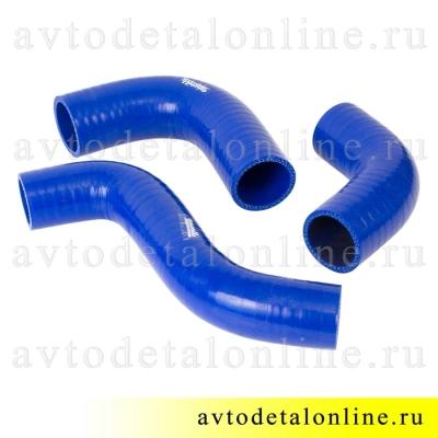 Силиконовые патрубки радиатора ГАЗ-31105 дв. Крайслер, 3 шт, 3302-1303023, 3302-1303025-10, 3302-1303026