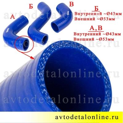 Патрубки радиатора ГАЗ-31105 дв. Крайслер, ремкомплект из 3-х шлангов, Технопартнер, Балаково фото торца